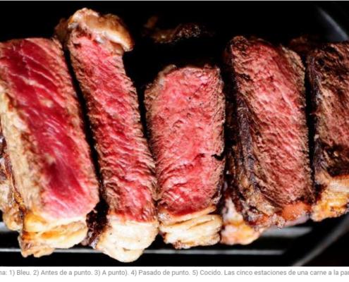 ¿Cómo se come el asado? Puntos de cocción.